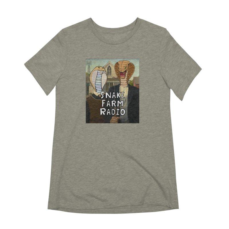 Snake Farm Radio Shirt Women's Extra Soft T-Shirt by Justin Tapp's Artist Shop
