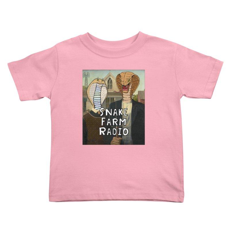 Snake Farm Radio Shirt Kids Toddler T-Shirt by Justin Tapp's Artist Shop