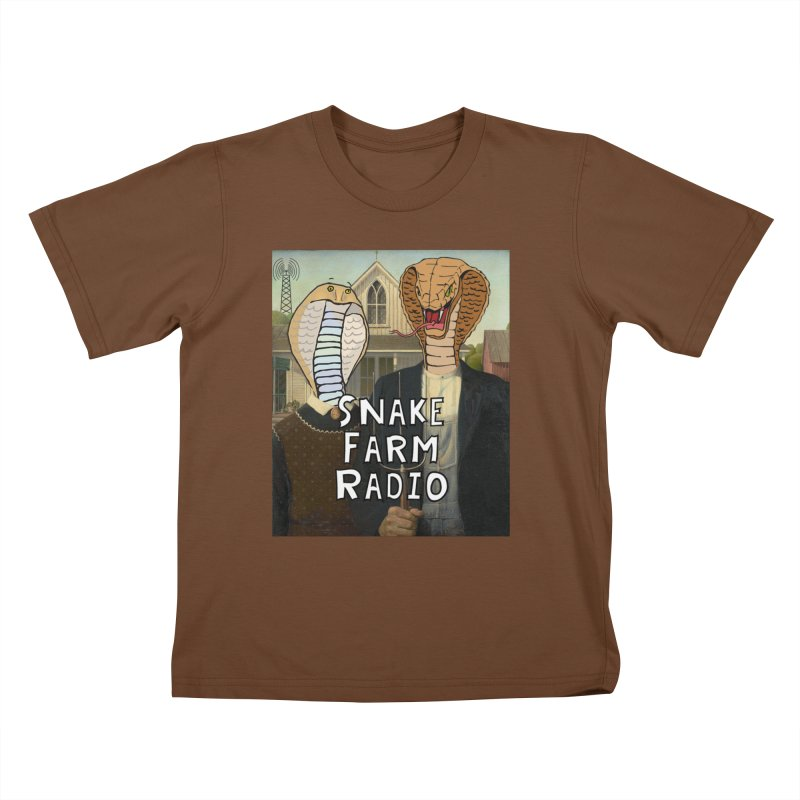 Snake Farm Radio Shirt Kids T-Shirt by Justin Tapp's Artist Shop
