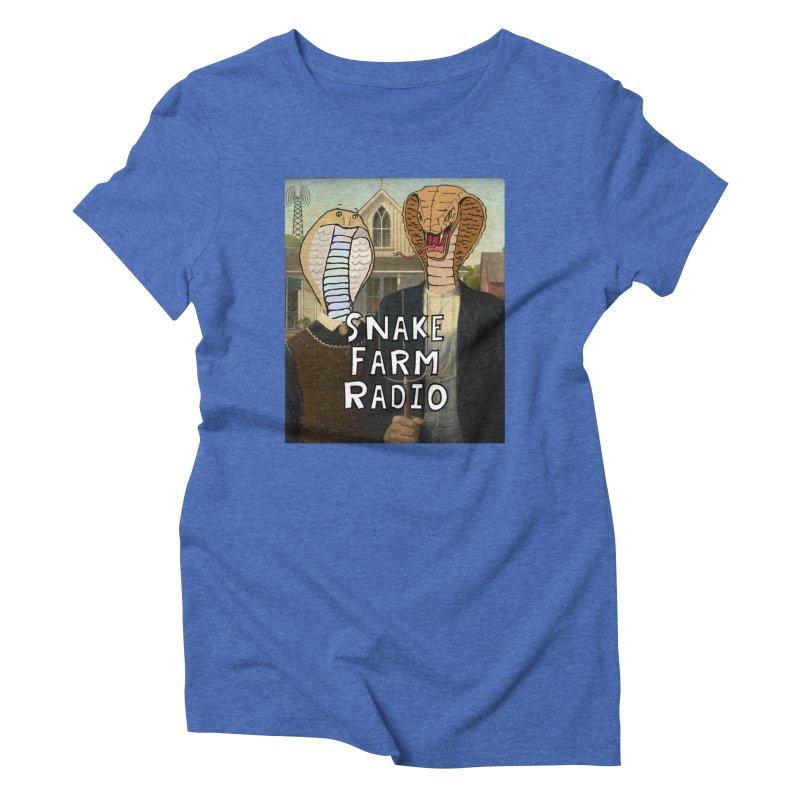 Snake Farm Radio Shirt Women's Triblend T-Shirt by justintapp's Artist Shop