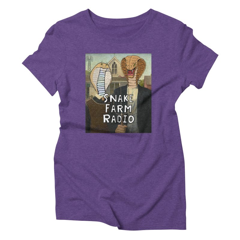 Snake Farm Radio Shirt Women's Triblend T-Shirt by Justin Tapp's Artist Shop