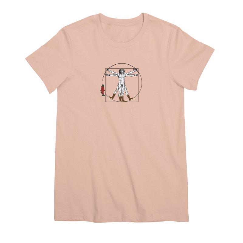 Vitruvian Alaskan Women's Premium T-Shirt by Justin Tapp's Artist Shop