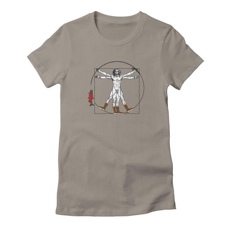 Vitruvian Alaskan Women's Fitted T-Shirt by Justin Tapp's Artist Shop