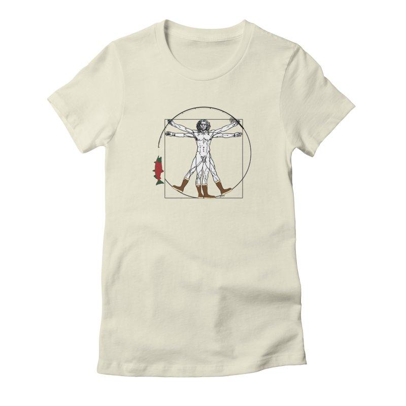 Vitruvian Alaskan Women's Fitted T-Shirt by justintapp's Artist Shop