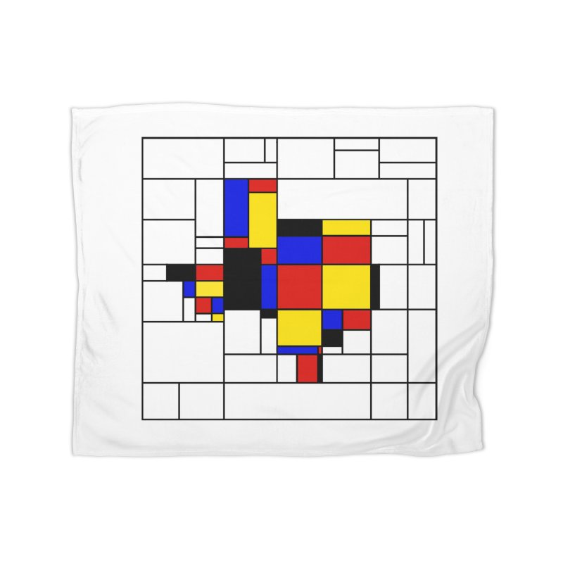 Texas du Mondrian Home Fleece Blanket Blanket by Justin Tapp's Artist Shop