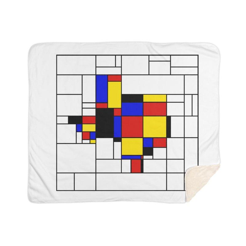 Texas du Mondrian Home Sherpa Blanket Blanket by Justin Tapp's Artist Shop