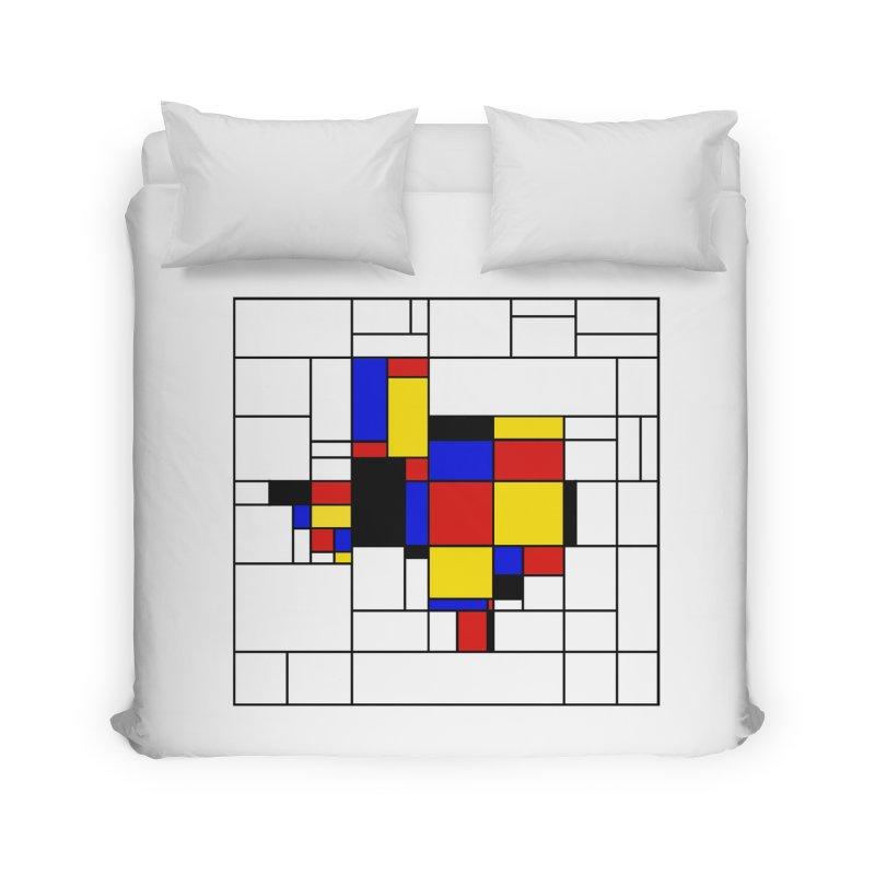 Texas du Mondrian Home Duvet by Justin Tapp's Artist Shop