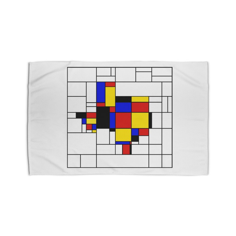 Texas du Mondrian Home Rug by justintapp's Artist Shop