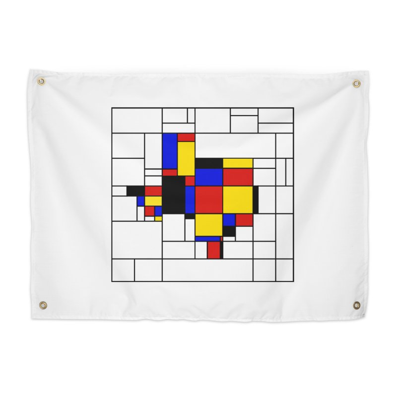 Texas du Mondrian Home Tapestry by justintapp's Artist Shop