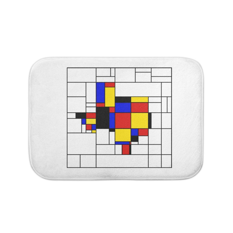 Texas du Mondrian Home Bath Mat by Justin Tapp's Artist Shop