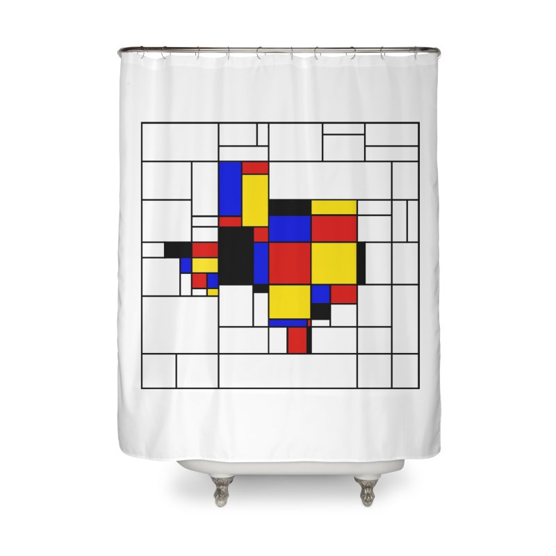 Texas du Mondrian Home Shower Curtain by Justin Tapp's Artist Shop
