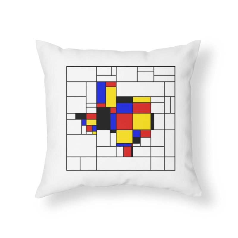 Texas du Mondrian Home Throw Pillow by Justin Tapp's Artist Shop