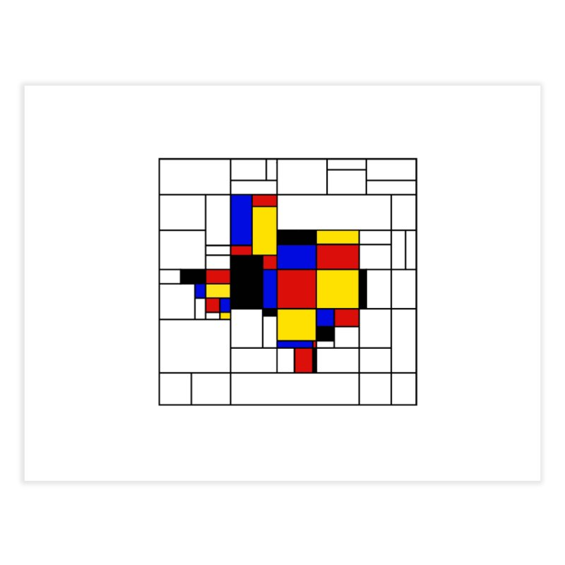 Texas du Mondrian Home Fine Art Print by Justin Tapp's Artist Shop
