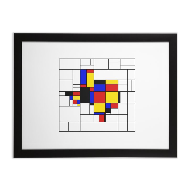 Texas du Mondrian Home Framed Fine Art Print by Justin Tapp's Artist Shop