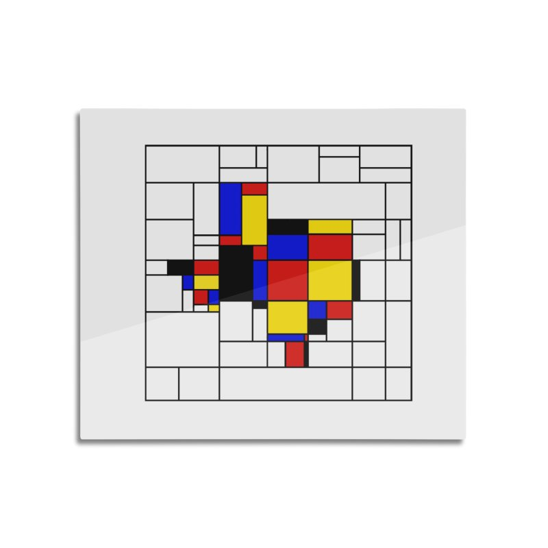 Texas du Mondrian Home Mounted Aluminum Print by Justin Tapp's Artist Shop