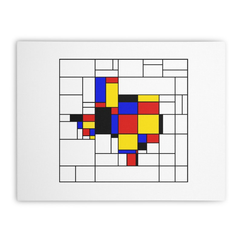 Texas du Mondrian Home Stretched Canvas by justintapp's Artist Shop