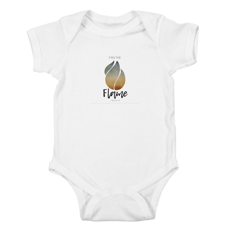 Fan the Flame Kids Baby Bodysuit by Justin Whitcomb's Artist Shop