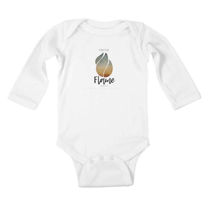 Fan the Flame Kids Baby Longsleeve Bodysuit by Justin Whitcomb's Artist Shop