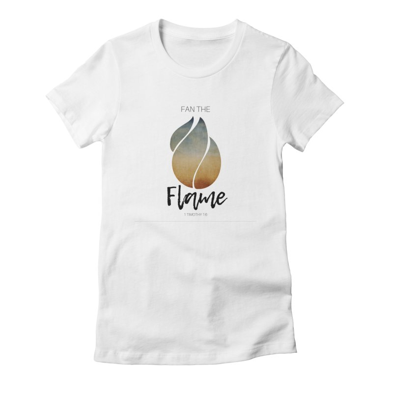 Fan the Flame Women's Fitted T-Shirt by Justin Whitcomb's Artist Shop