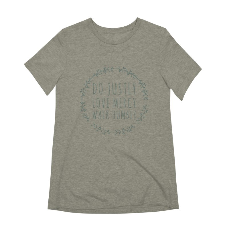 Micah 6:8 Women's Extra Soft T-Shirt by Justin Whitcomb's Artist Shop