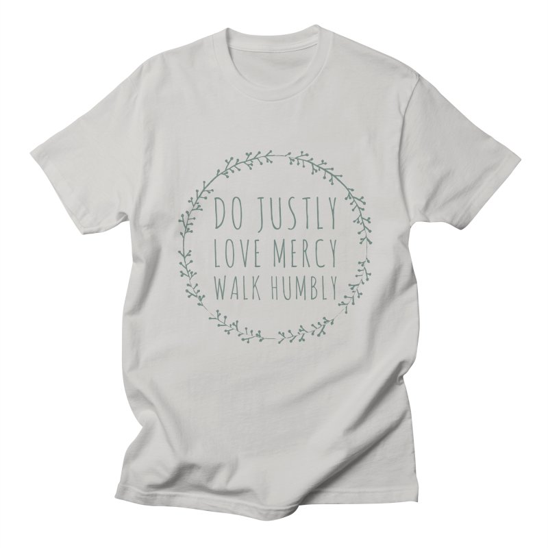 Micah 6:8 Men's T-Shirt by Justin Whitcomb's Artist Shop