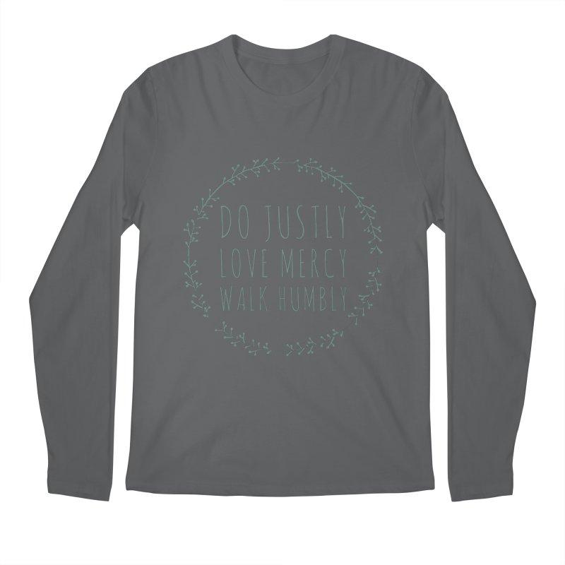 Micah 6:8 Men's Longsleeve T-Shirt by Justin Whitcomb's Artist Shop