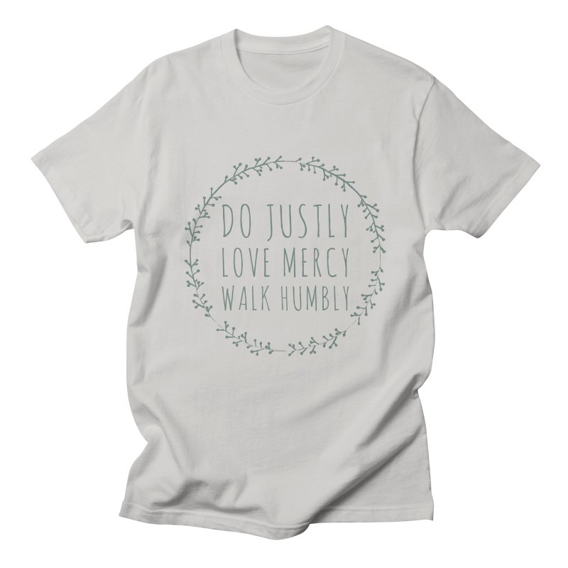 Micah 6:8 Men's T-Shirt by Justin Whitcomb's Artist Shop