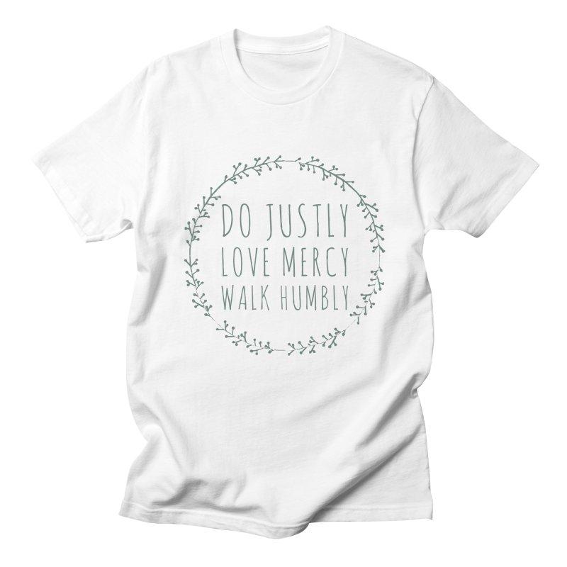 Micah 6:8 Men's Regular T-Shirt by Justin Whitcomb's Artist Shop