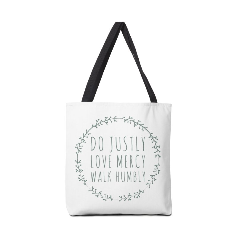 Micah 6:8 Accessories Tote Bag Bag by Justin Whitcomb's Artist Shop