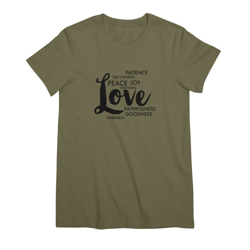 Fruits of the Spirit Women's Premium T-Shirt by Justin Whitcomb's Artist Shop