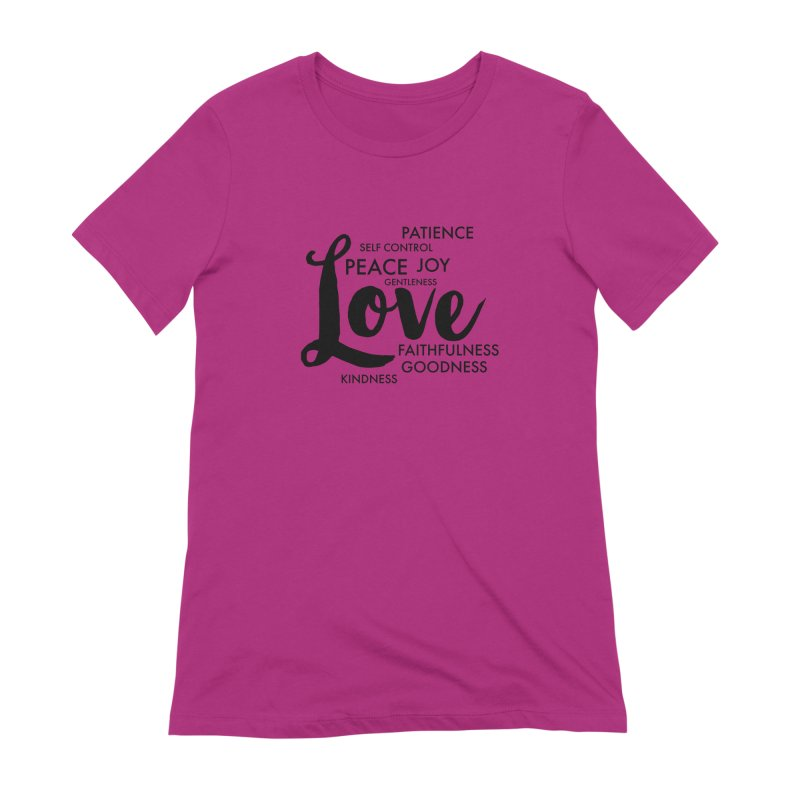 Fruits of the Spirit Women's Extra Soft T-Shirt by Justin Whitcomb's Artist Shop