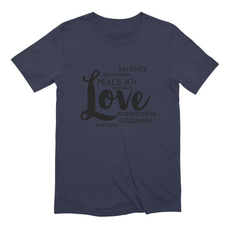 Fruits of the Spirit Men's Extra Soft T-Shirt by Justin Whitcomb's Artist Shop