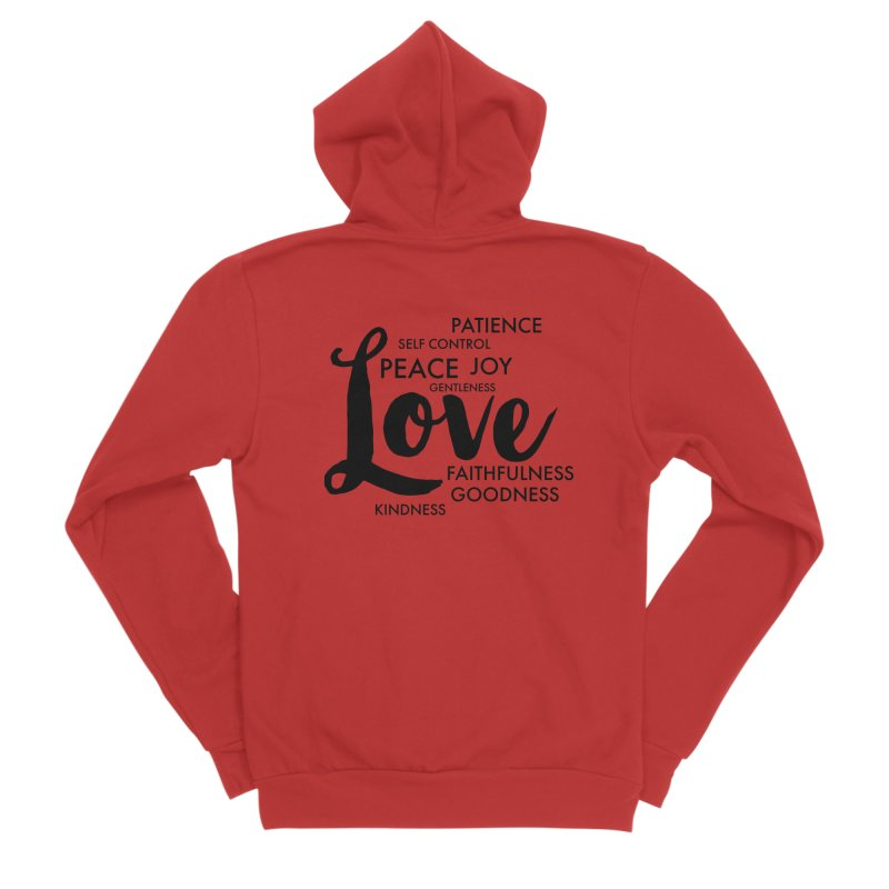 Fruits of the Spirit Men's Zip-Up Hoody by Justin Whitcomb's Artist Shop