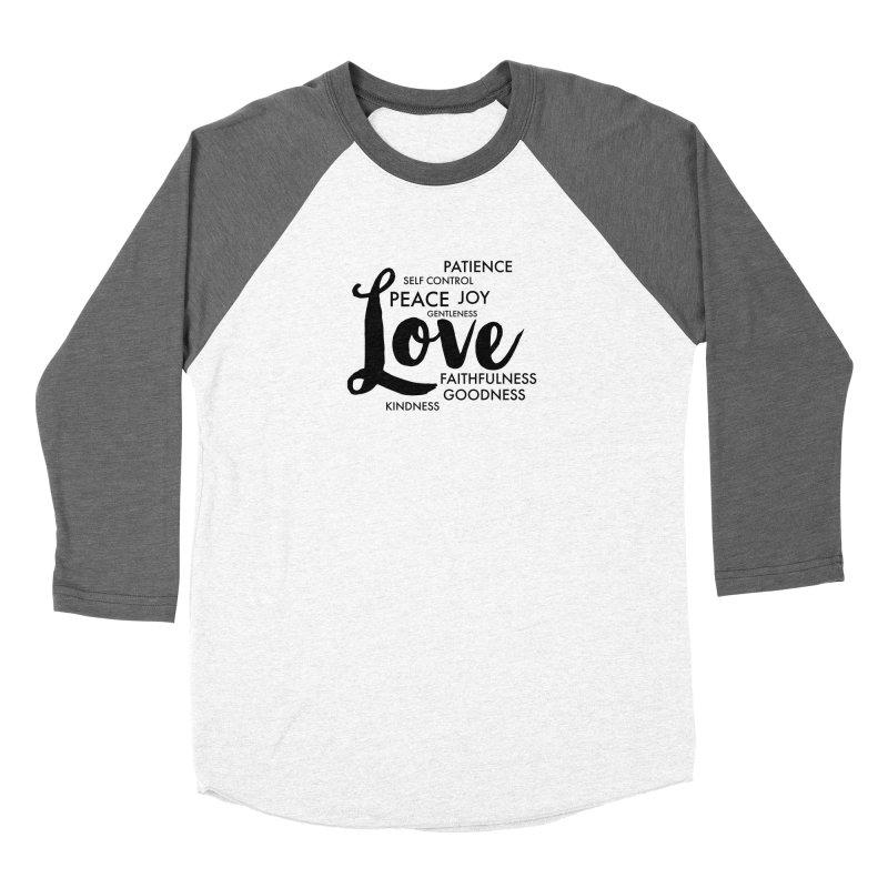 Fruits of the Spirit Men's Baseball Triblend Longsleeve T-Shirt by Justin Whitcomb's Artist Shop