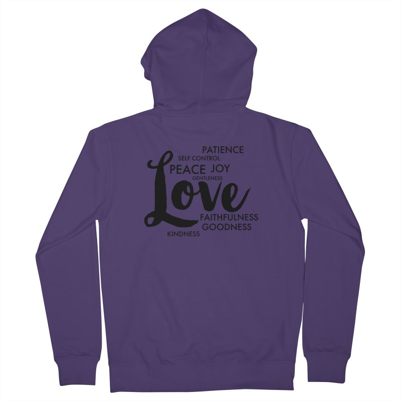 Fruits of the Spirit Women's French Terry Zip-Up Hoody by Justin Whitcomb's Artist Shop