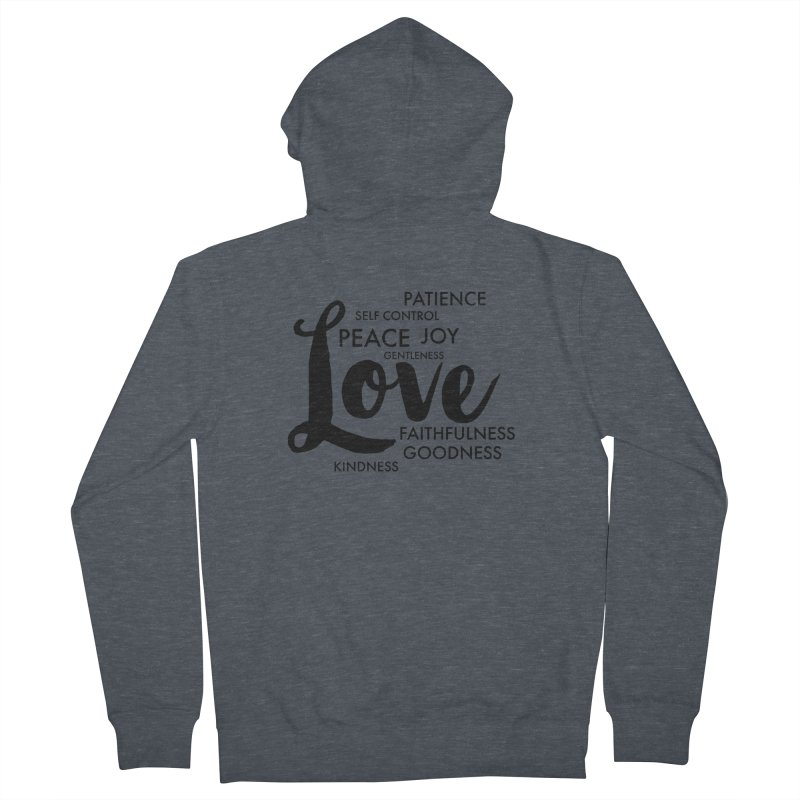 Fruits of the Spirit Men's French Terry Zip-Up Hoody by Justin Whitcomb's Artist Shop