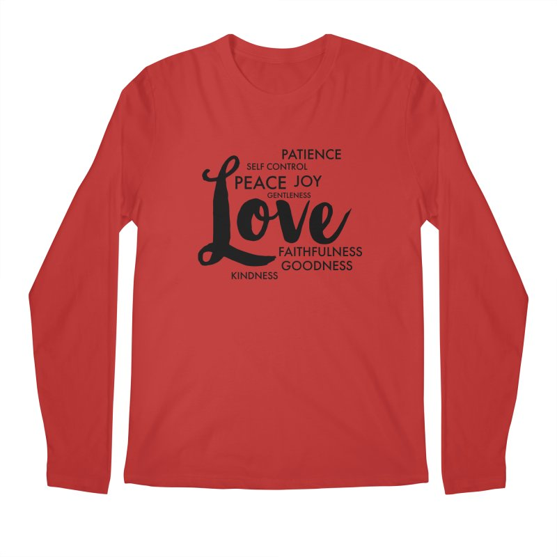 Fruits of the Spirit Men's Regular Longsleeve T-Shirt by Justin Whitcomb's Artist Shop