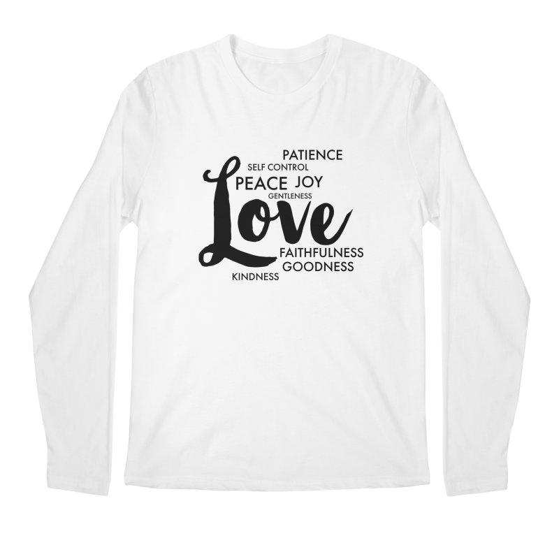 Fruits of the Spirit Men's Regular Longsleeve T-Shirt by Justin Whitcomb's Artist Shop