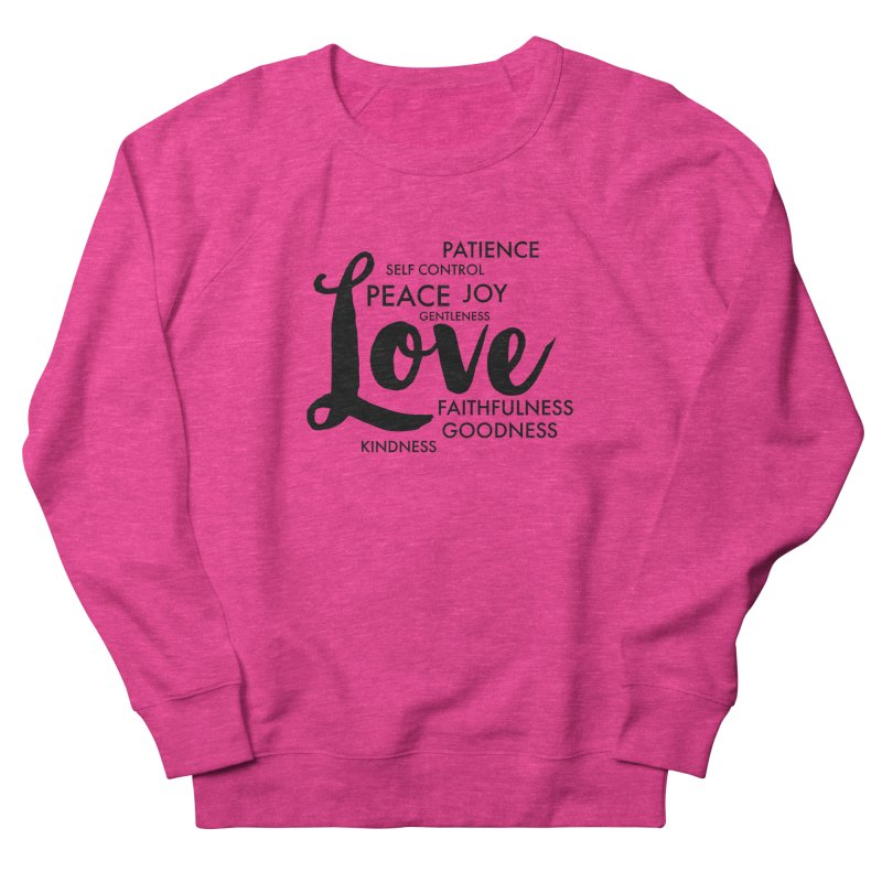 Fruits of the Spirit Women's French Terry Sweatshirt by Justin Whitcomb's Artist Shop