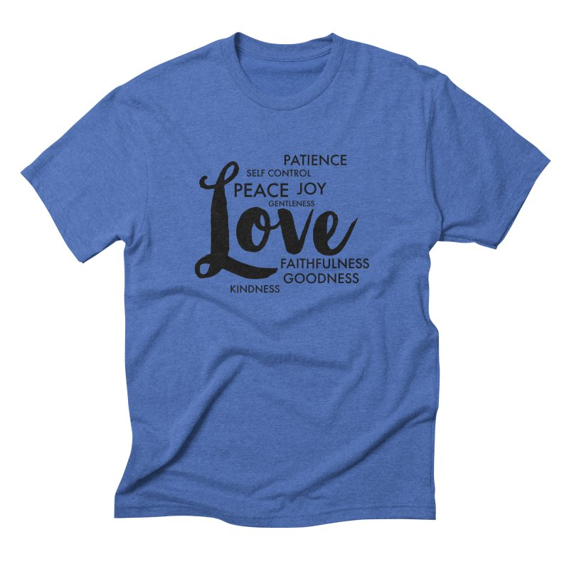 Fruits of the Spirit Men's Triblend T-Shirt by Justin Whitcomb's Artist Shop