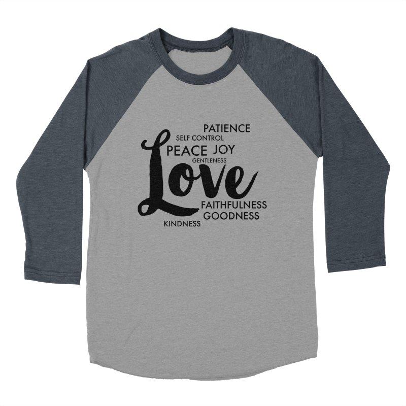 Fruits of the Spirit Women's Baseball Triblend Longsleeve T-Shirt by Justin Whitcomb's Artist Shop