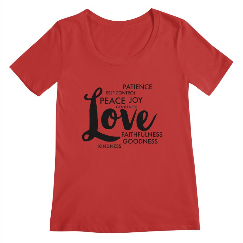 Fruits of the Spirit Women's Regular Scoop Neck by Justin Whitcomb's Artist Shop
