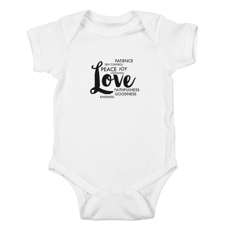 Fruits of the Spirit Kids Baby Bodysuit by Justin Whitcomb's Artist Shop