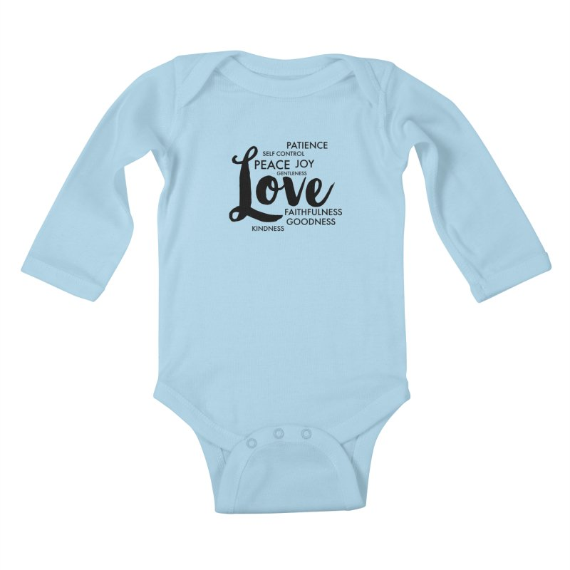 Fruits of the Spirit Kids Baby Longsleeve Bodysuit by Justin Whitcomb's Artist Shop