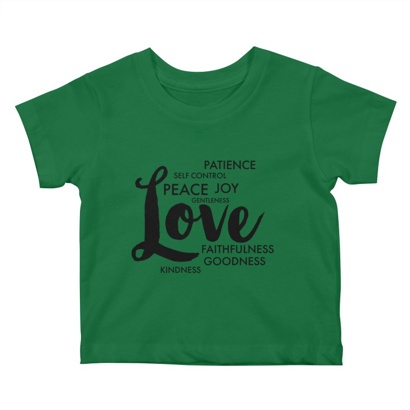 Fruits of the Spirit Kids Baby T-Shirt by Justin Whitcomb's Artist Shop