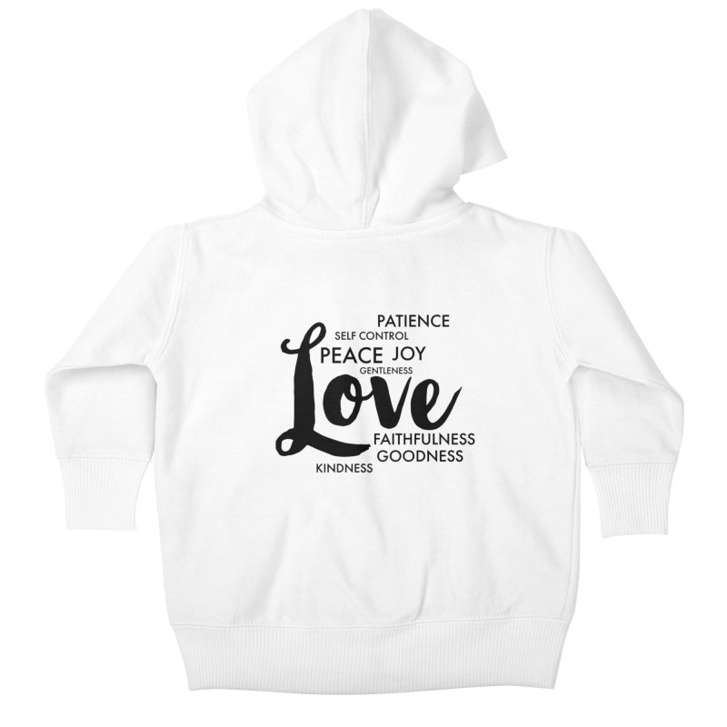 Fruits of the Spirit Kids Baby Zip-Up Hoody by Justin Whitcomb's Artist Shop