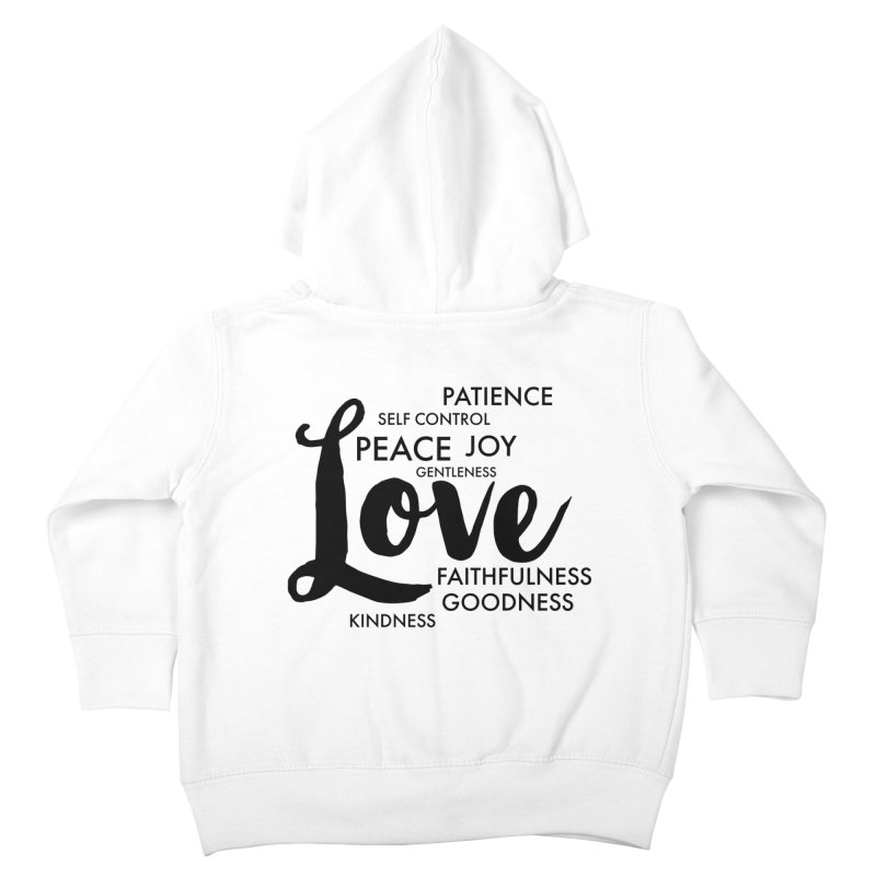 Fruits of the Spirit Kids Toddler Zip-Up Hoody by Justin Whitcomb's Artist Shop