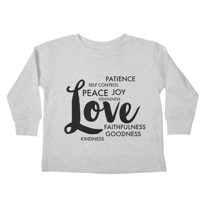 Fruits of the Spirit Kids Toddler Longsleeve T-Shirt by Justin Whitcomb's Artist Shop