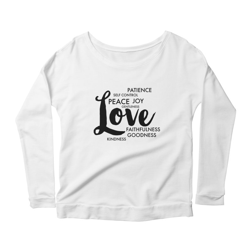 Fruits of the Spirit Women's Scoop Neck Longsleeve T-Shirt by Justin Whitcomb's Artist Shop