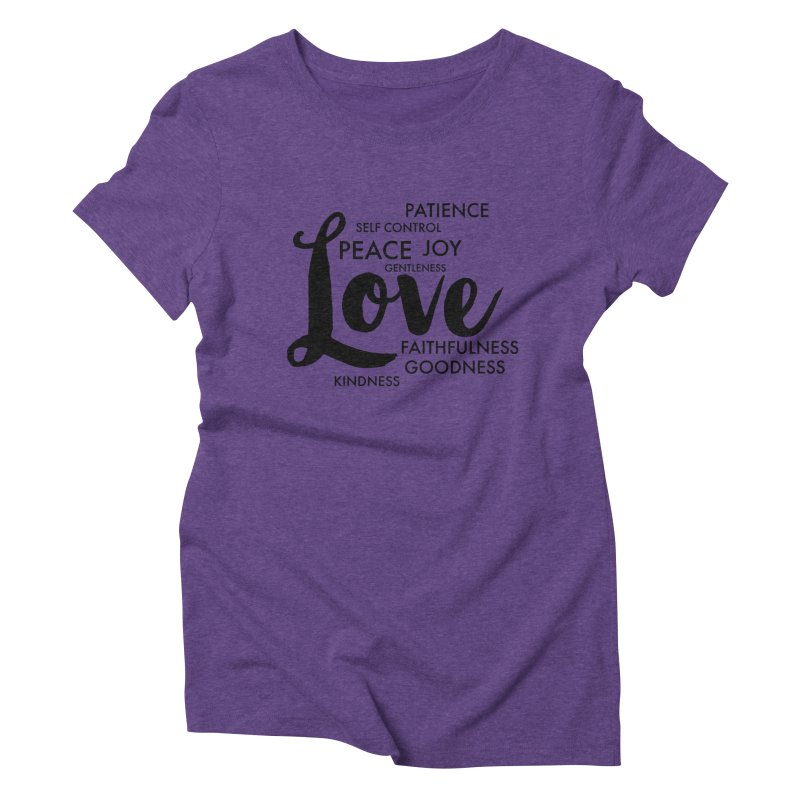 Fruits of the Spirit Women's Triblend T-Shirt by Justin Whitcomb's Artist Shop